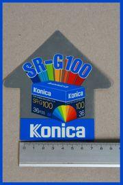 Aufkleber Sticker Konica SRG100 Sammler