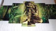 Sinnliches Buddha-Bild 5teilig