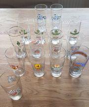 Bierglas alt versch Brauereien 15
