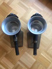 2 antike Kutschenlampen Kutschlampe Fuhrwerks-Kerzenlampe
