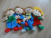 4 Egmont Toys Handpuppen Kasperlpuppen