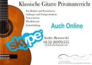 Gitarrenunterricht auch Online Einzel -Gruppenunterricht