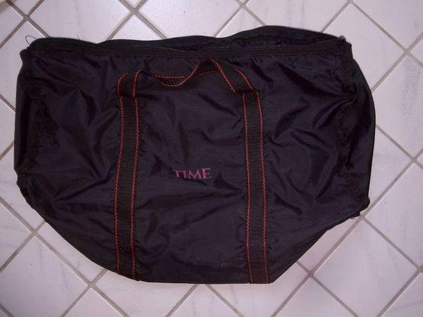 sporttasche in schwarz Nylon