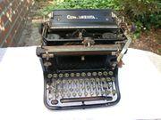 Antike Schreibmaschine Continental schwarz Vintage