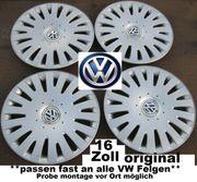4 x Original VW Radkappen