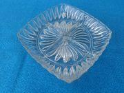 Sservierteller Kristall viereckig mit 4er-Abteilung