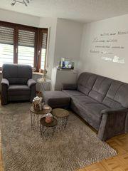 Polstergarnitur sofa Couch grau von
