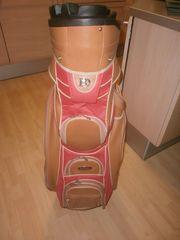 Bennington Golfbag gebraucht orange ocker