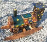 Schaukel Lokomotive aus Teakholz