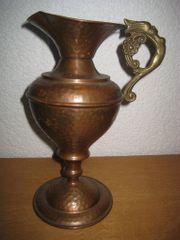 Kupfervase - Vase - Kupfer - Henkelvase - Hammerschlagdekor