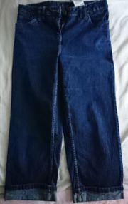 Jeans-Caprihose in blau