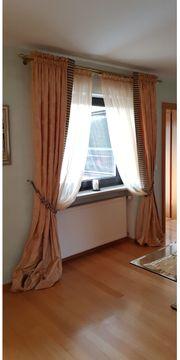 Wohnzimmergardinen - 2 Sets mit Gardinenstangen