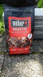 Weber Briketts 4kg Sack NEU