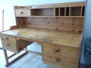 Massiver Sekretär- Schreibtisch aus Holz