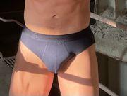 Geiler blauer Slip - extra lange