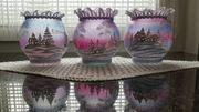 Hand bemalte Kerzen glas- Weihnachtglas