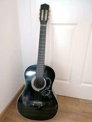 Gitarre Schwarz mit Tasche