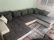 Sofa Couch Weiß Grau