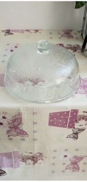 1Glas-Etageren Glas-Kuchenplatte