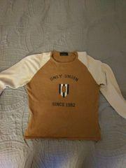Sweatshirt braun beige Gr 36