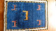Wunderschöner blauer Gabbeh Teppich 136