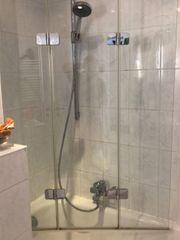 Duschabtrennung in Glas für Badewanne