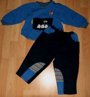 Blauer Freizeit-Anzug - Größe 92 - Jogging-Anzug -