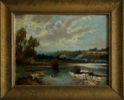 Schönes Antik-Gemälde um 1910 v