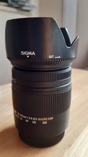 Sigma Objektiv 18-250mm für Canon