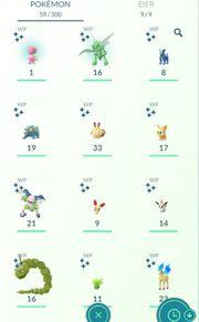 Pokemon Go Shiny Accounts verschiedene