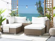 Lounge Set Rattan hellbraun 2-Sitzer