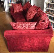 Großes rotes Kare-Designersofa zu verkaufen