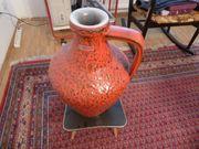 Keramikblumenvase Bay Contura rot schwarz