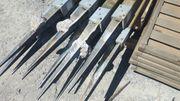 Holzflechtzaun Rügen-Riffelblende-gerade kpl mit Pfosten