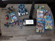Wii U schwarz mit Spiele