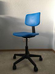 IKEA ALRIK Drehstuhl blau
