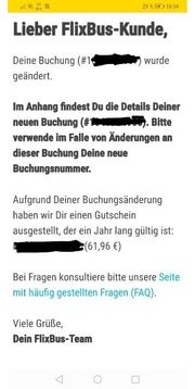 FlixBus Flixzug Guthaben 61 96