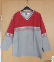 Sweatshirt rot grau Größe 40