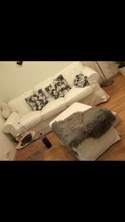 Couch Ektorp 3er mit Hocker