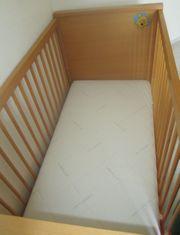 Babybett Gitterbett Kinderbett mit Matratze