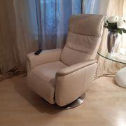 HUKLA Fernsehsessel Relaxsessel Leder