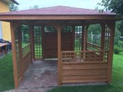 Holzpavillon Gartenlaube 300 x 300