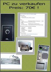 PC zu verkaufen Komplett 70