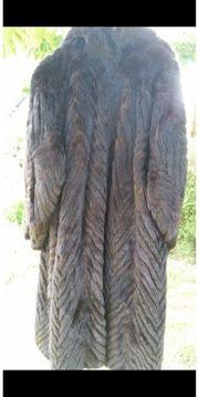 schwarzer Nerzmantel Größe 46 48