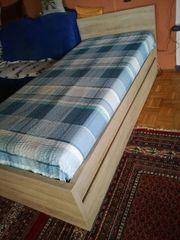 Komplett-Schubkasten-Bett 90x200 cm