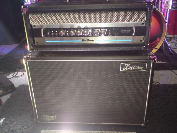 Bassanlage Tec Amp Topteil-Kustom Bassbox