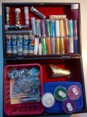 Bastelbedarf - Glasperlen Glitter Glimmer usw
