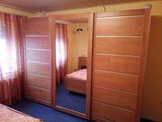 Teilmassives komplettes Schlafzimmer Schwebetürenschrank Kleiderschrank