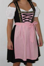 Dirndl schwarz rosa