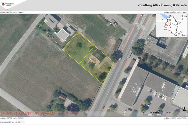 Dornbirn 1457 m2 Grundstück in